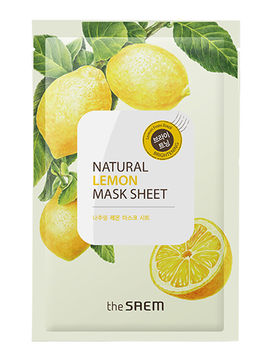 Маска для лица тканевая с экстрактом лимона Natural Lemon Mask Sheet, 21 мл, The Saem