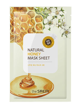 Маска для лица тканевая с экстрактом меда Natural Honey Mask Sheet, 21 мл, The Saem