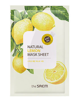 Маска тканевая лимон Natural Skin Fit Mask Sheet Lemon, 20 мл, The Saem