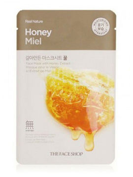Маска тканевая для лица с экстрактом меда Real Nature Mask Sheet Honey, 20 мл, THE FACE SHOP