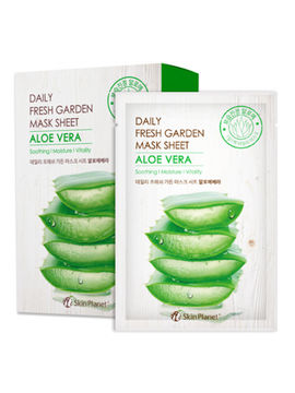 Маска для лица тканевая алое Skin Planet daily fresh garden mask sheet ALOE VERA, 25 г, MIJIN
