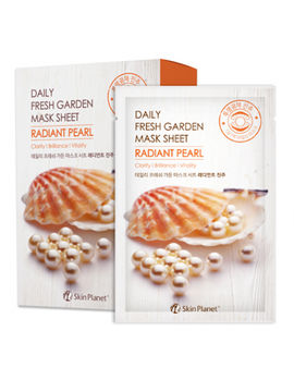 Маска для лица тканевая жемчуг Skin Planet daily fresh garden mask sheet RADIANT PEARL, 25 мл, MIJIN