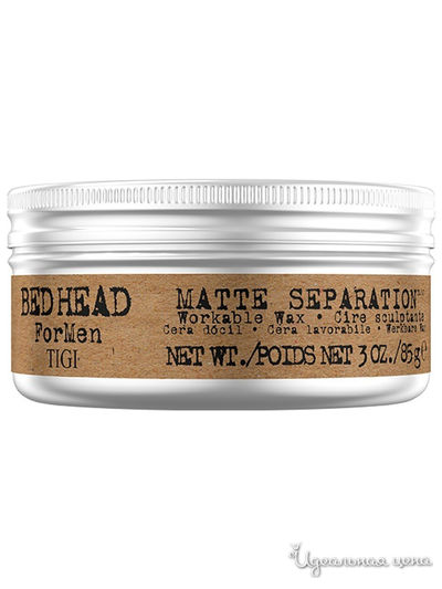 Воск для волос Matte Separation Workable Wax, 85 г, TIGI